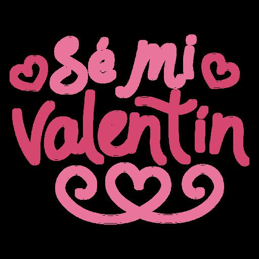 Se mi valentin lettering design Transparent PNG