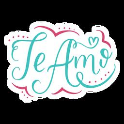 Te amo lettering design