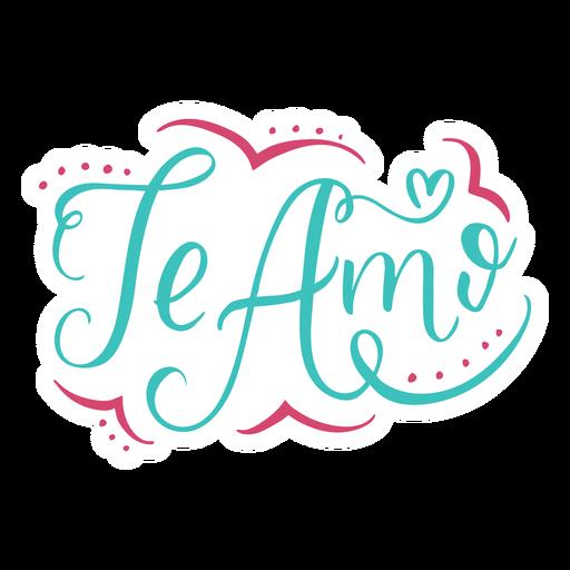 Te amo design de letras Transparent PNG