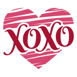 Xoxo valentines message