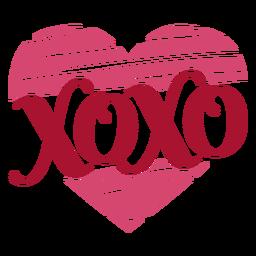 Xoxo-Valentines-Nachricht