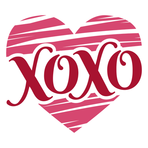 Xoxo valentines message Transparent PNG