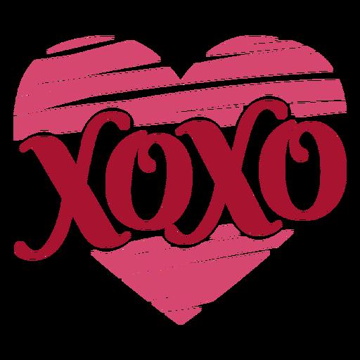 Xoxo-Valentines-Nachricht Transparent PNG