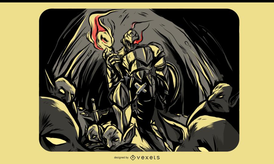 Ilustración de asesino de goblin
