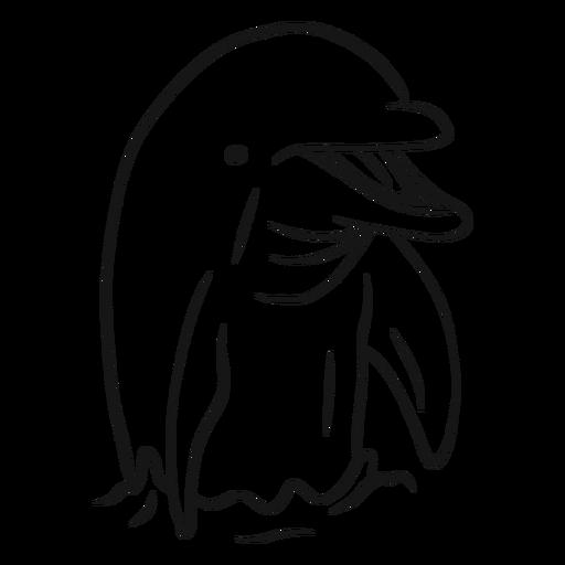 Dibujo de superficie de delfines en el agua. Transparent PNG