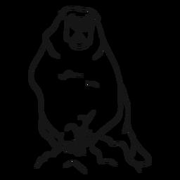 Vetor de esboço animal da marmota