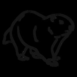 Ilustración de boceto de la marmota