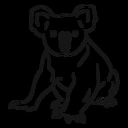 Gezeichnete Illustration des Koalabeagers Hand