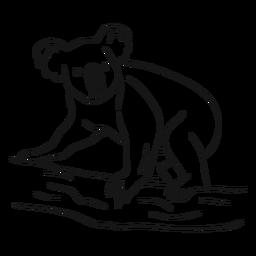 Vetor de esboço de coala
