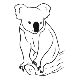 Koala auf einem Niederlassungsskizzenvektor