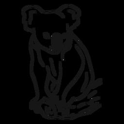 Koala en un vector de dibujo de rama