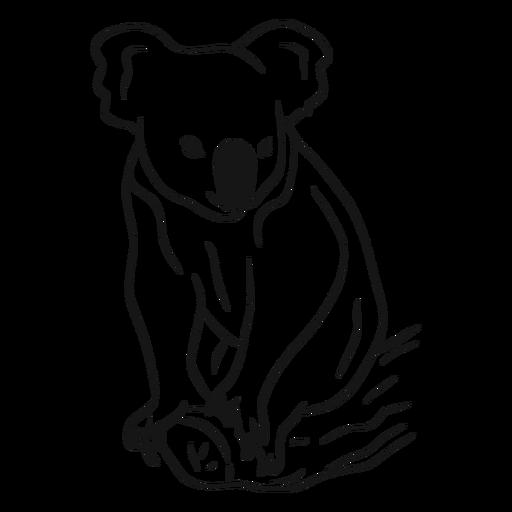 Koala on a branch sketch vector Transparent PNG