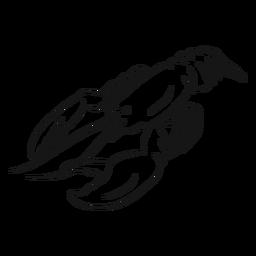 Ilustração de esboço animal de lagosta