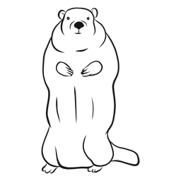 Standing groundhog sketch vector