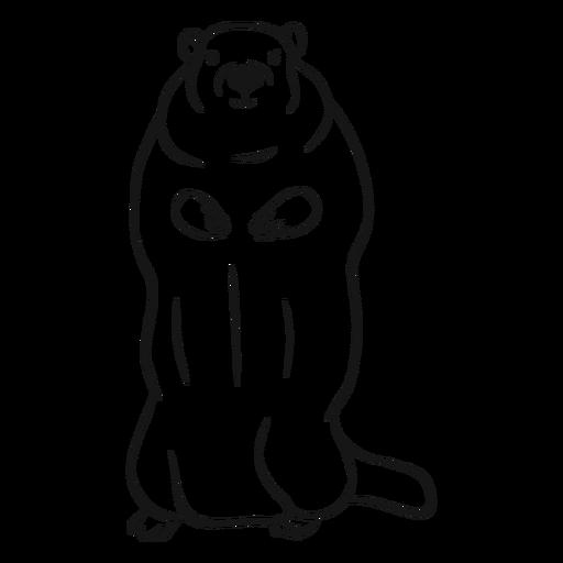 Standing groundhog sketch vector Transparent PNG