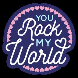 Você agita minha mensagem dos namorados do mundo