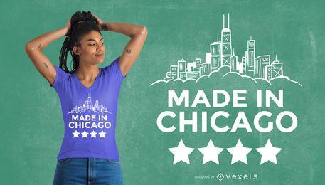 Diseño de camiseta Made in Chicago