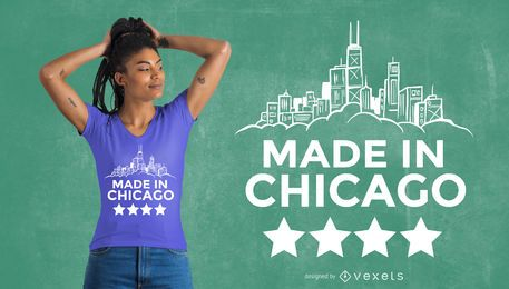 Feito no design do t-shirt de Chicago
