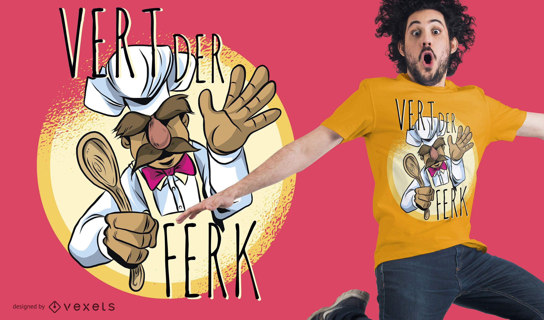 Diseño de camiseta Vert Der Ferk