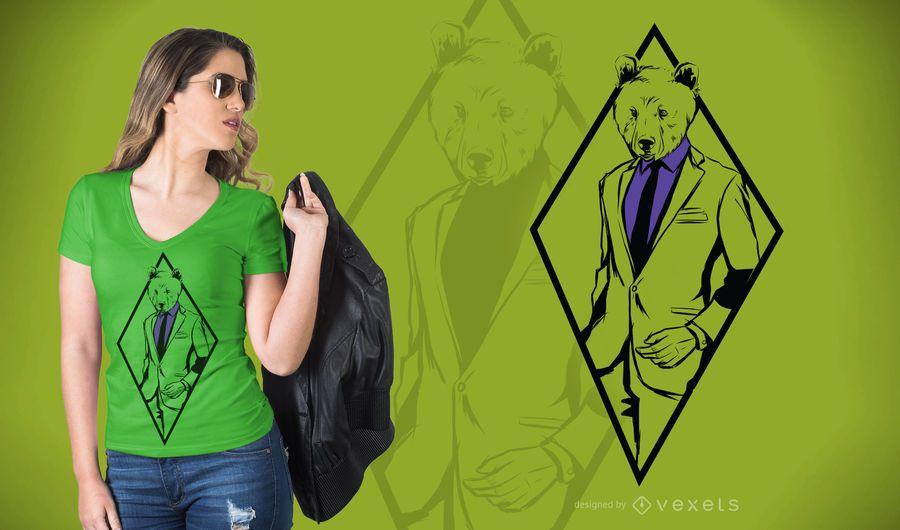 Formal Bear T-Shirt Design
