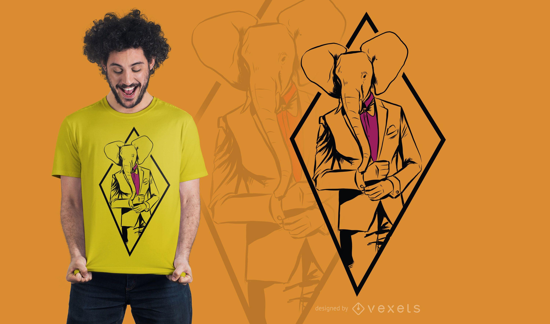 Formal Elephant T-Shirt Design