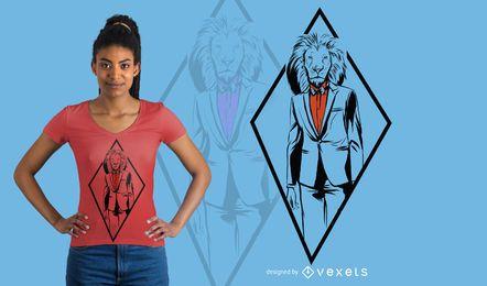 Diseño de camiseta de león formal