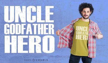 Diseño de la camiseta del tío héroe