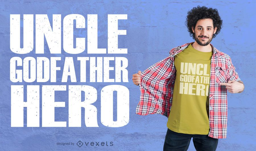Uncle Hero T-Shirt Design