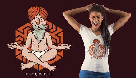 Projeto de flutuação do t-shirt de Guru