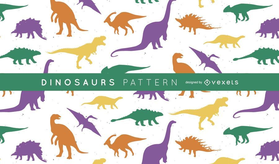 Dinosaurier Silhouette Muster