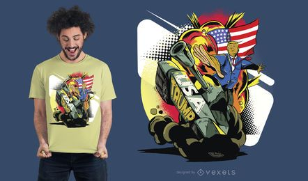 Projeto do t-shirt do tanque do trunfo