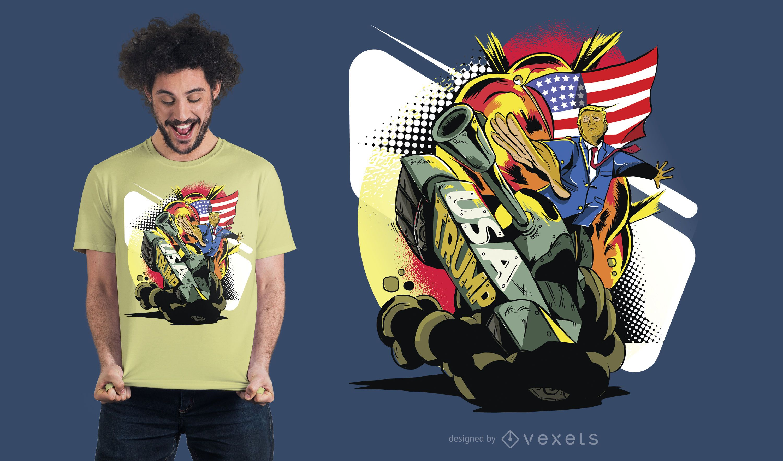 Diseño de camiseta Trump Tank