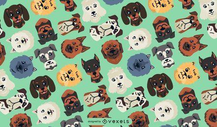 Cabezas de perro de patrones sin fisuras