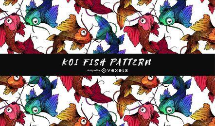 Padrão de peixe koi