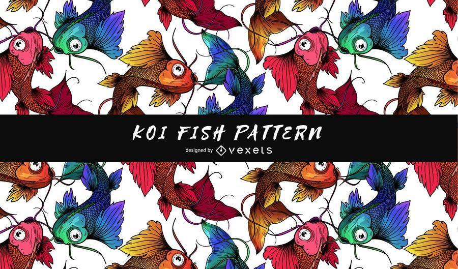 Patrón de peces koi