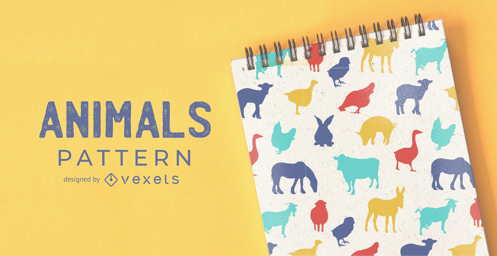 Farm animals pattern design