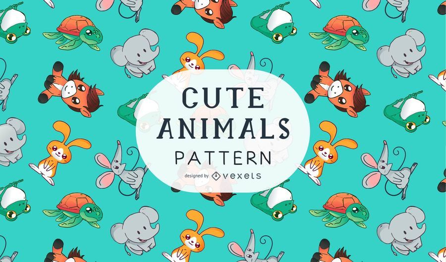 Niedliche Tiere Muster