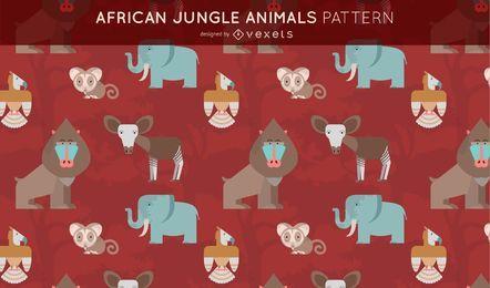 Diseño del patrón de animales de la selva africana