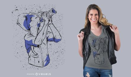 Kellner-Elefant-T-Shirt Design
