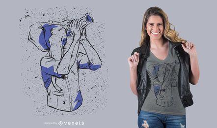 Kellner-Elefant-T-Shirt Design