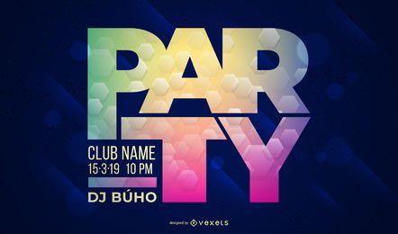 Design de Cartaz de Festa de Clube