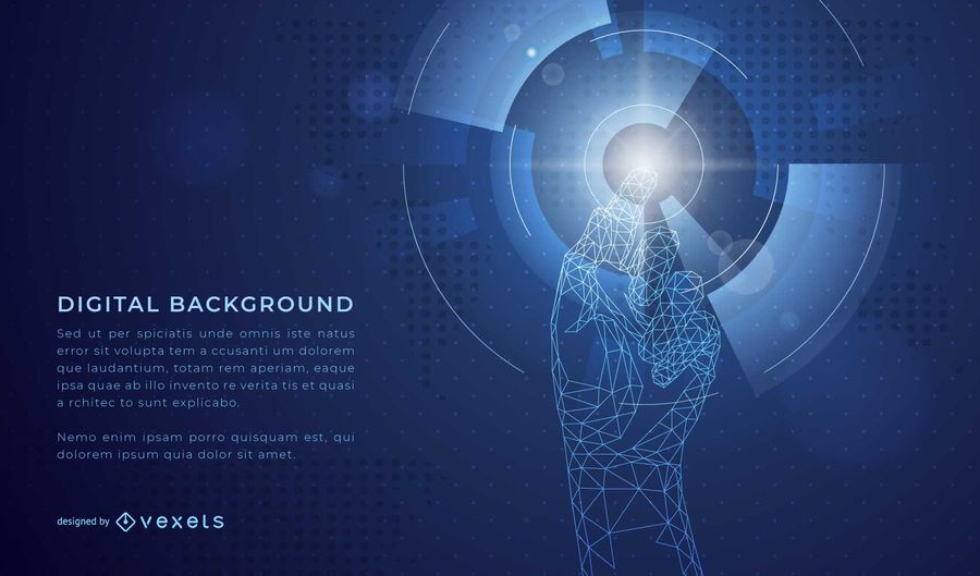 Digital Hand Hintergrund