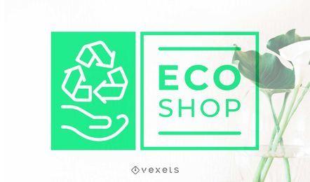 Design de logotipo de loja de eco