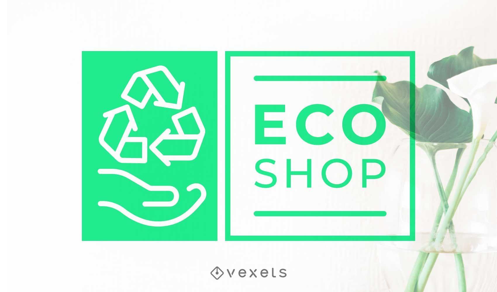 Eco shop logo design