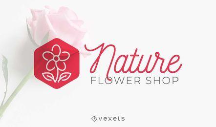 Design de logotipo de loja de flores de natureza