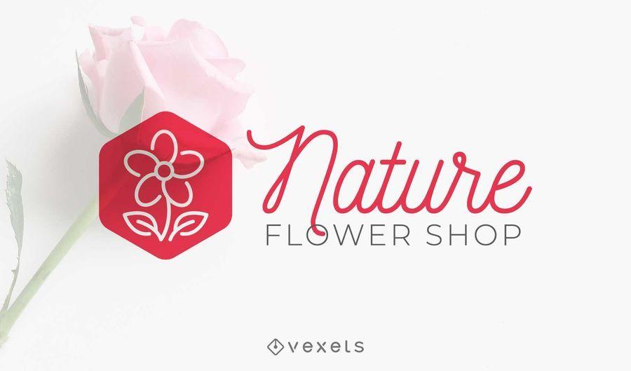 Diseño de logotipo de tienda de flores de naturaleza