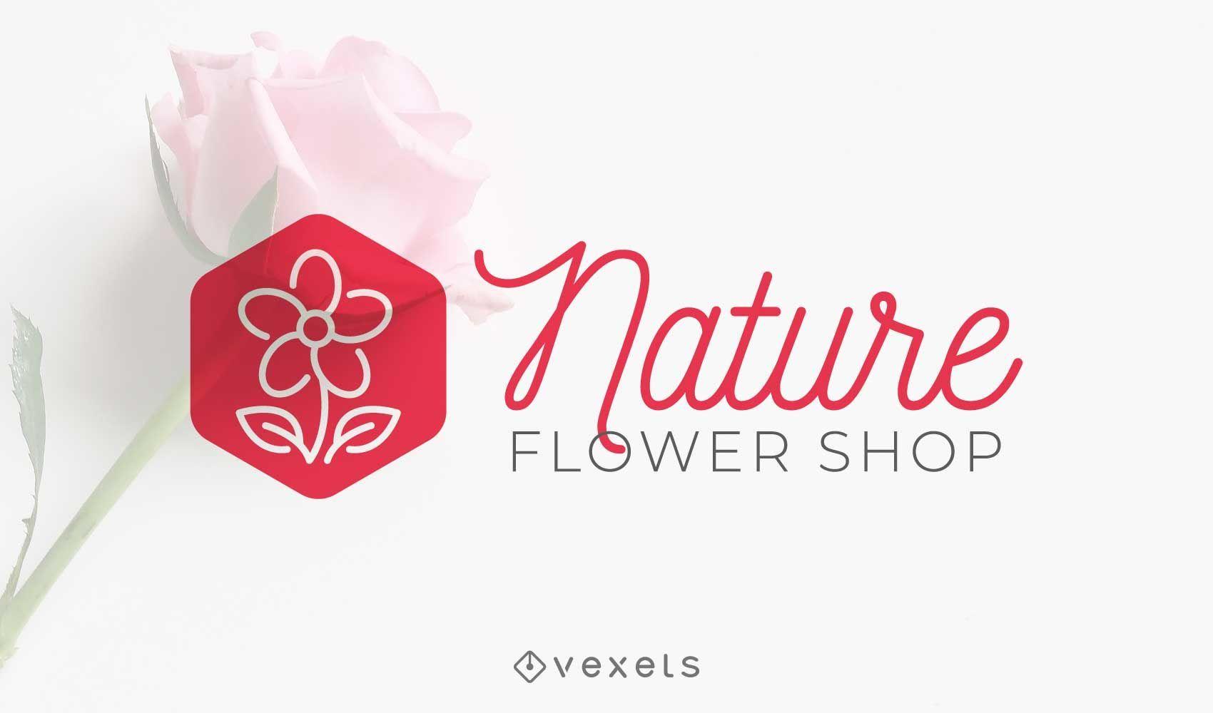 Nature flower shop logo design