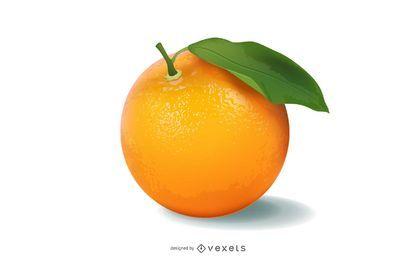 Vector laranja realista