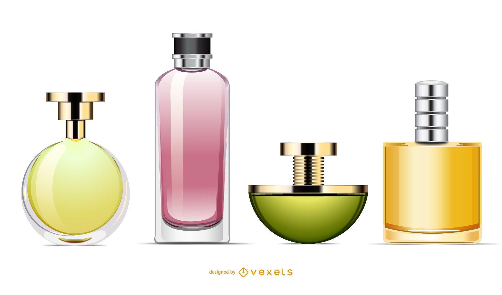 Conjunto de botella de perfume
