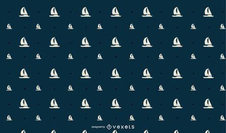 Nahtloses Segelboot-Musterdesign